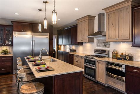 kitchens with different colored cabinets kitchen interesting kitchen layout ideas pictures two
