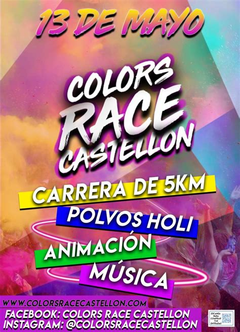 color race la colors race llega a castell 243 n el 13 de mayo