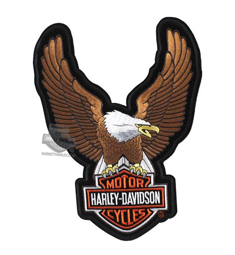 Aufnäher Patches Harley Davidson by Emb328394 Harley Davidson 174 Brown Upwing Eagle Large
