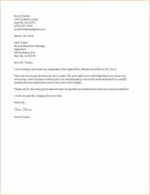 Resignation Letter Exles Two Week Notice by 8 2 Weeks Notice Sle Letters Basic Appication Letter