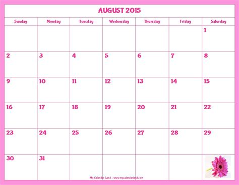 Printable 2015 Monthly Calendar Template by Free Printable Calendar 2015 Monthly 2017 Printable Calendar