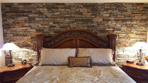stone accent wall bedroom stunning bedroom accent wall creative faux panels