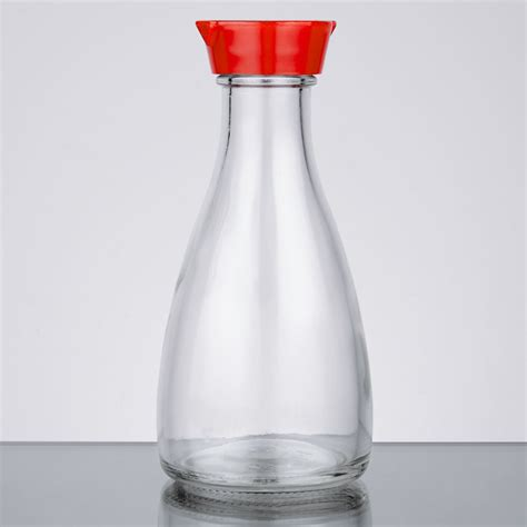 town   oz red top soy sauce bottle