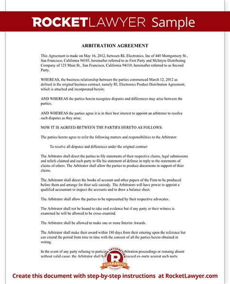 Mediation Agreement Form Template With Sle Agreement To Mediate Template