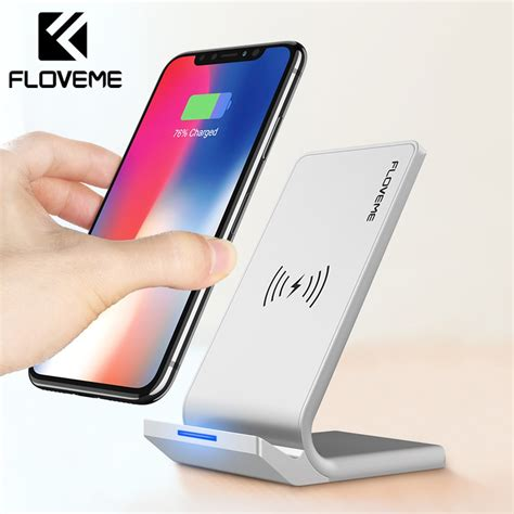 floveme universal qi wireless charger for iphone x xs xr 10w fast charger usb wireless charging