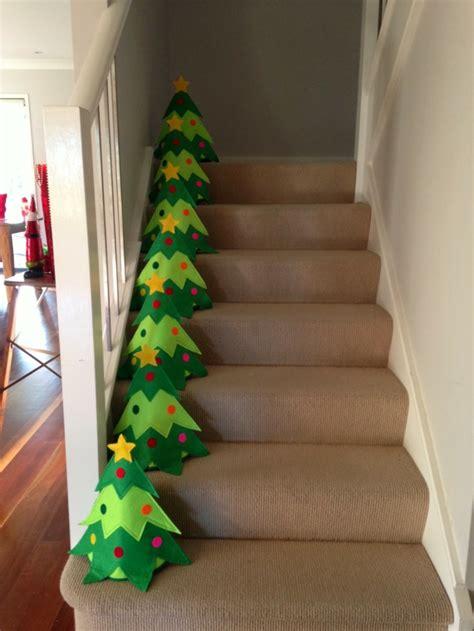 dekoideen weihnachten das treppenhaus