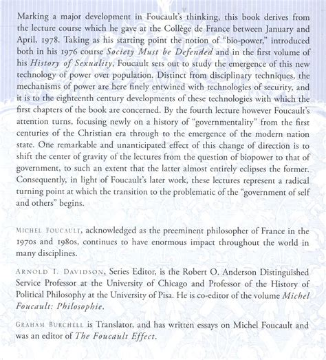 libro archaeology of knowledge routledge foucault michel security territory population macmillan 2009