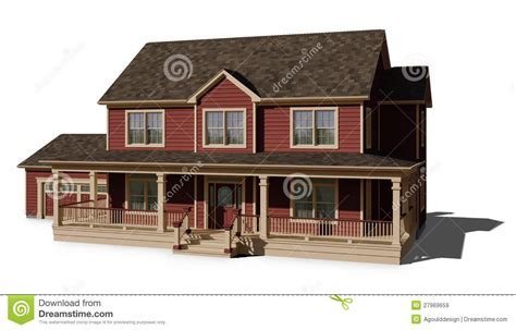 red house siding two story house red royalty free stock images image 27969659