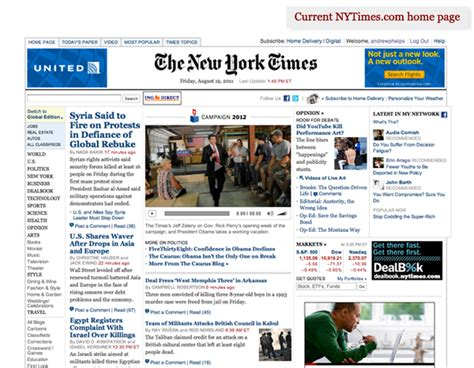 new york times home page 28 images advertising who