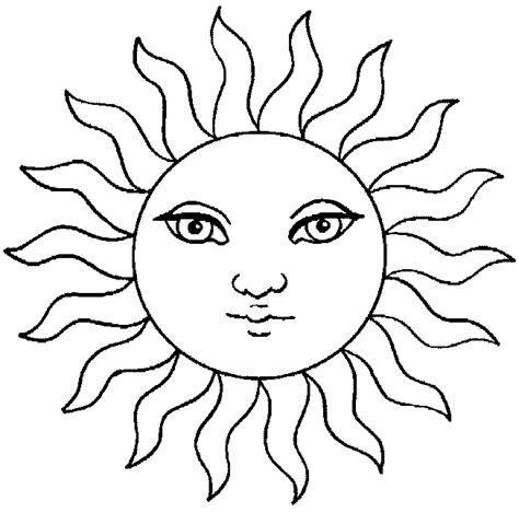 sun face coloring page dessin soleil