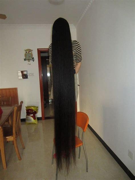 very long floor length hair zhu aimei has floor length plus long hair now