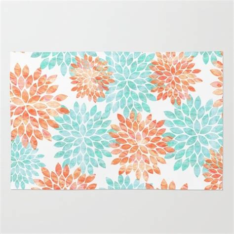 coral throw rug aqua and coral flowers rug best throw rugs and aqua ideas