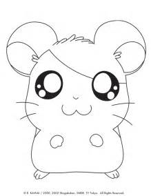 cutest animal coloring pages hamtaro animals coloring pages