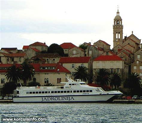 catamaran ferry krilo from dubrovnik to korcula ferry catamaran korcula hvar split hvar korcula