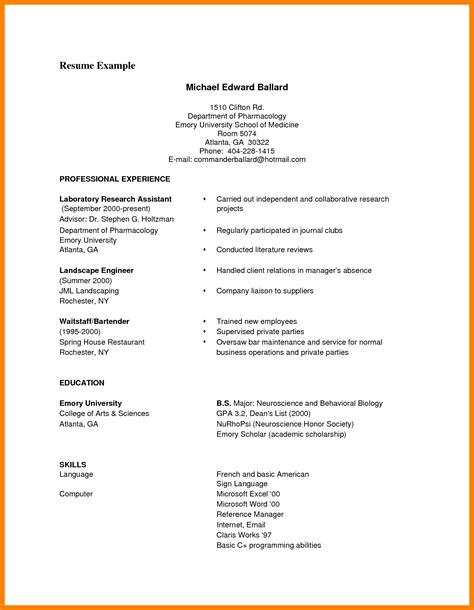 resume exles for pdf 9 exle of a cv pdf gcsemaths revision