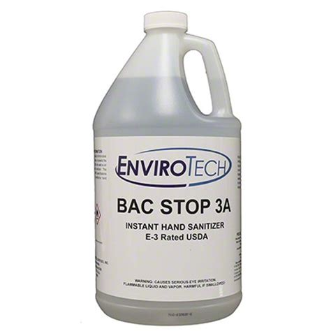 bac stop  usda rated  hand sanitizer case   gallons cleanedge
