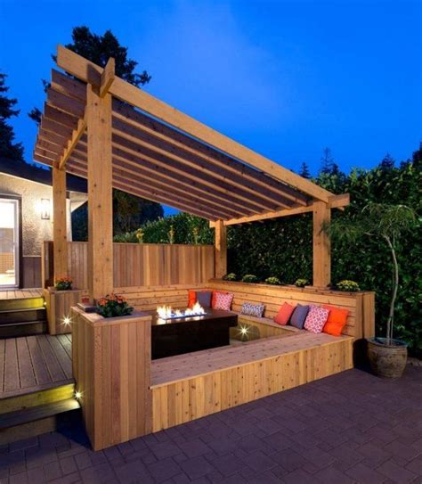 pergola en bois pour terrasse 4651 design exterieur pergola en bois banc coussins foyer