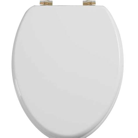 white elongated toilet seat elongated toilet seat w chromed metal hinges wood white