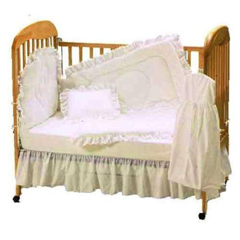 Ecru Crib Bedding by Baby Doll Bedding Carnation Eyelet Cradle Set Ecru Baby
