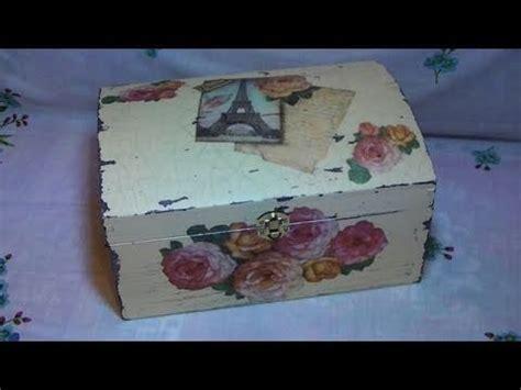 Tutorial Bauletto Decoupage | tutorial decoupage su bauletto di legno con carta di riso