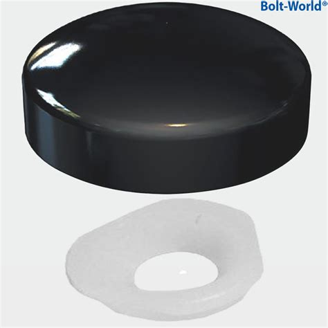 upholstery screw caps black two piece gloss dome screw snap on caps covers