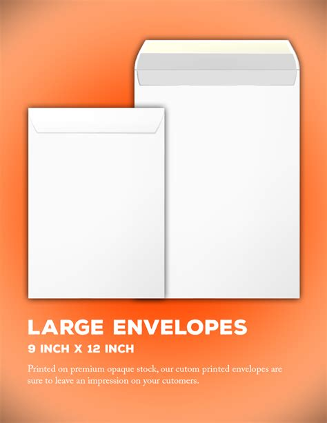 9 X 12 Envelope Producer Tool Box 12x9 Envelope Template