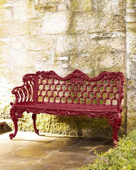 red garden bench red garden bench