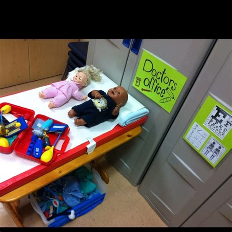 to play at an office doctor s office dramatic play center