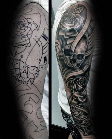 half sleeve cover up tattoos for men 50 cover up sleeve design ideas for manly ink