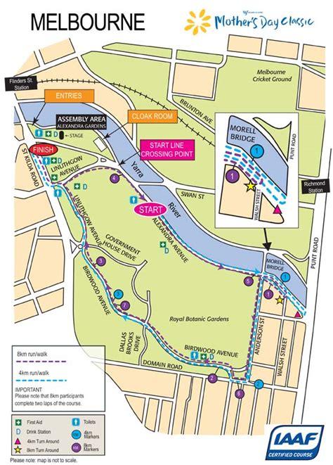 Map Botanical Gardens Melbourne S Day Classic Sunday 13 May 2012 4km Or 8km Run Walk