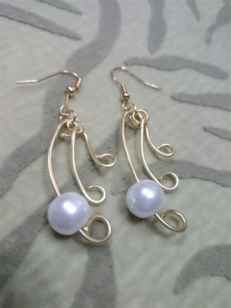 how to make jewelry with wire and how to make wire jewelry ideas pearl simplicity earrings