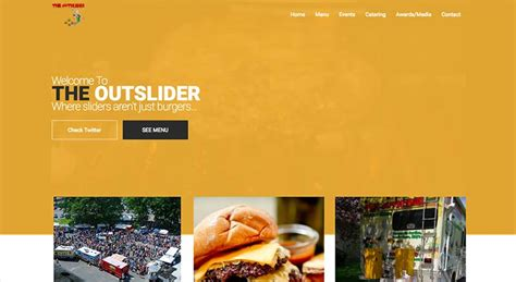food truck website design the outslider food truck boathouse web design