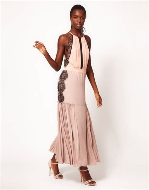 Dress Mocion three floor motion maxi dress with lace and pleating in