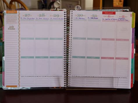 planner layout now we re getting to the heart of this planner where i
