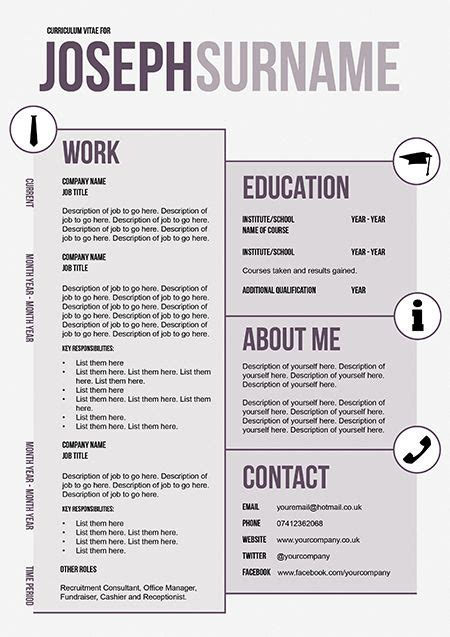 funky resume templates funky cv templates 18 best cv templates images on career cv template and dtk templates
