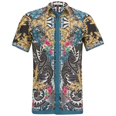 Silk Sleeve Shirt versace collection s sleeve silk fantasia shirt