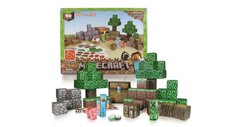 Minecraft Papercraft Overworld - minecraft papercraft overworld deluxe set the best gifts