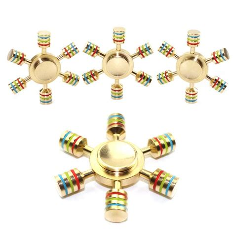 Metal Brass Fidget Spinner Hexagon 2 6sisi Spinner new brass hexagonal fidget spinner hexa spinner eds anti stress rotation metal spinners