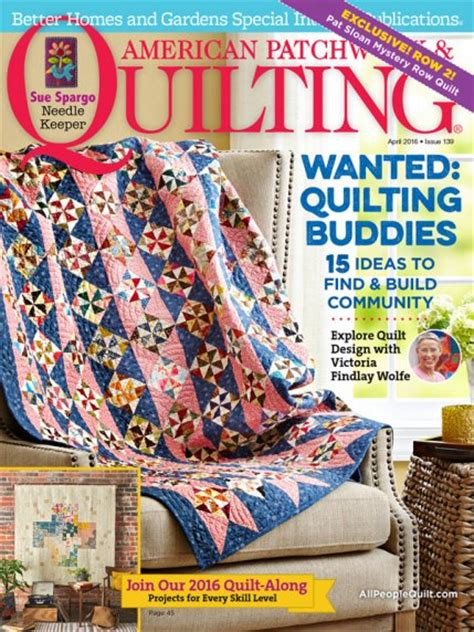 American Patchwork And Quilting Magazine - american patchwork quilting april 2016 allpeoplequilt