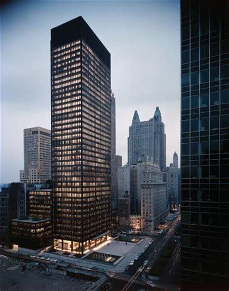 ludwig mies van der rohe the seagram building new york seagram building mies van der rohe architecture