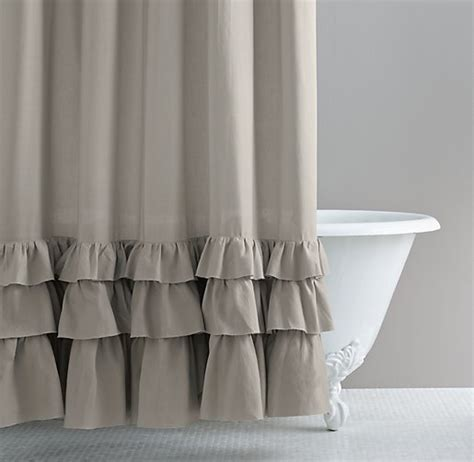 Grey Ruffle Curtains Ruffle Shower Curtain Grey Curtain Menzilperde Net