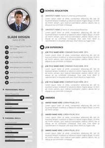 envato resume templates slade professional quality cv resume template by