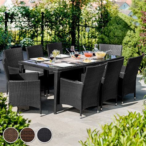 ebay mobili da giardino set di mobili da giardino alluminio poli rattan