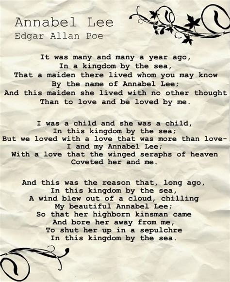 annabel lee by edgar allan poe 17 best ideas about annabel lee on pinterest edgar allan poe great poems and poems of love