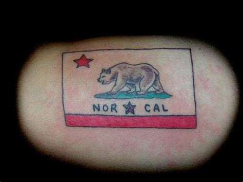 nor cal tattoo calif nor cal flag from creative ink tattooing permanent