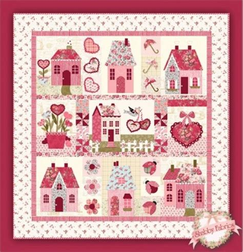sweetheart houses pattern by shabby fabrics