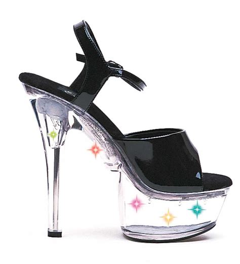 light up high heel shoes open toe light up clear platform stiletto sandals high