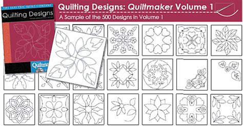 10 Off Quilting Designs The Quiltmakers Collection Vol 1 Printable Quilting Stencils How To Use Quilting Templates