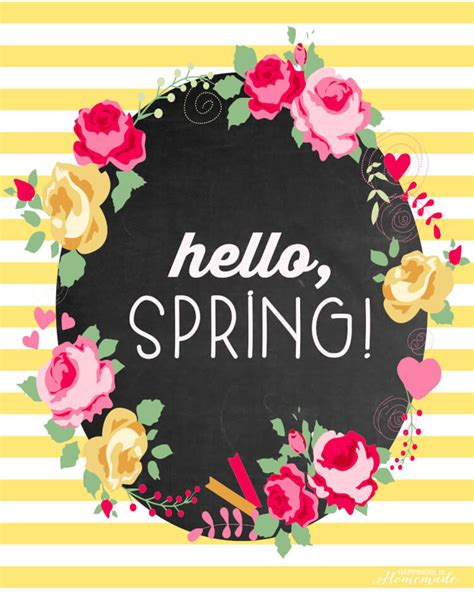 printable spring images quot hello spring quot free printable happiness is homemade