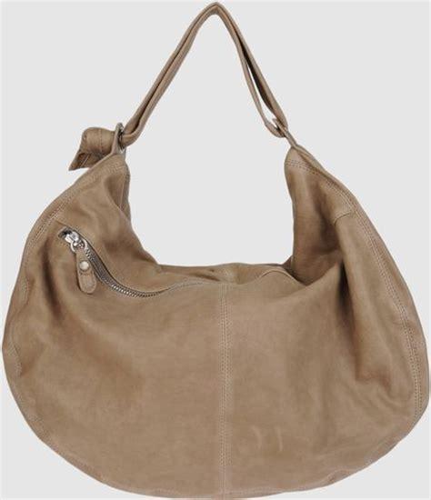 Sissi Rossis Shoulder Bag by Sissi Large Leather Bag In Khaki Slate Lyst